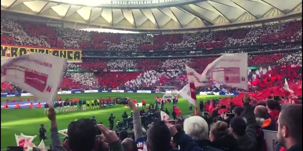L'hymne de l'Atlético de Madrid dans le bouillant Wanda Metropolitano